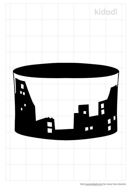 skyline-cake-stencil