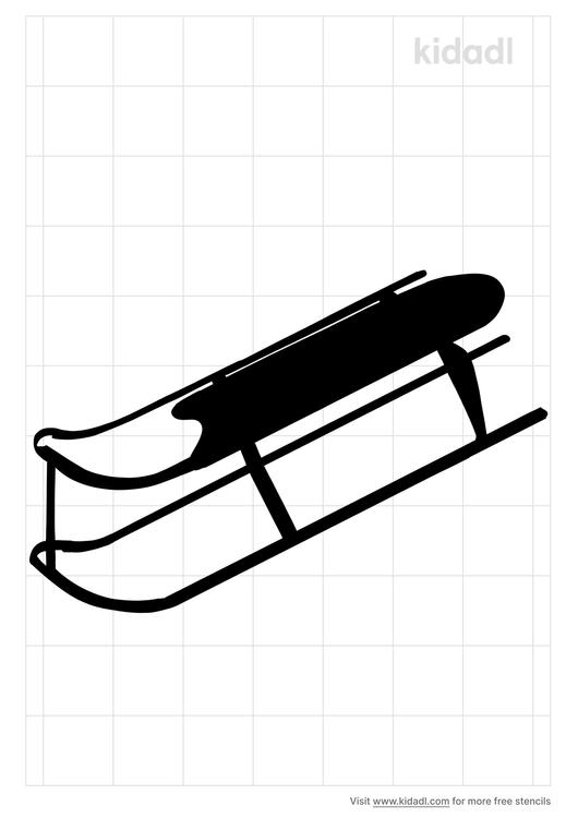 sled-runner-stencil