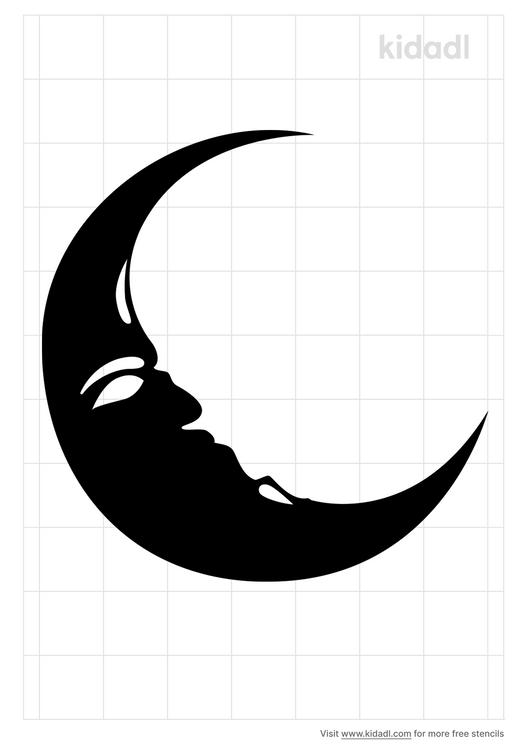 sleep-moon-stencil