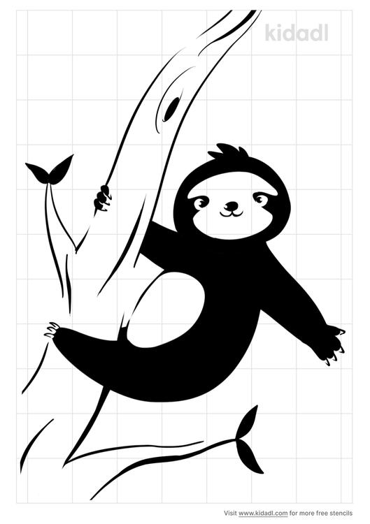 sloth-tree-stencil