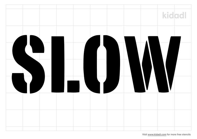 slow-road-stencil