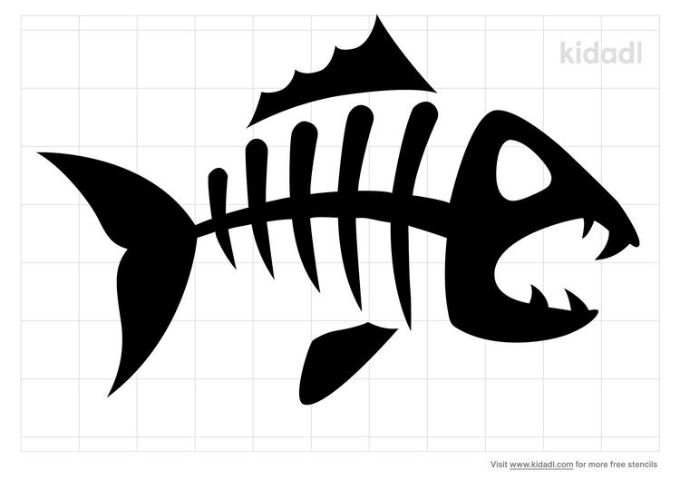 snapper-skull-stencil