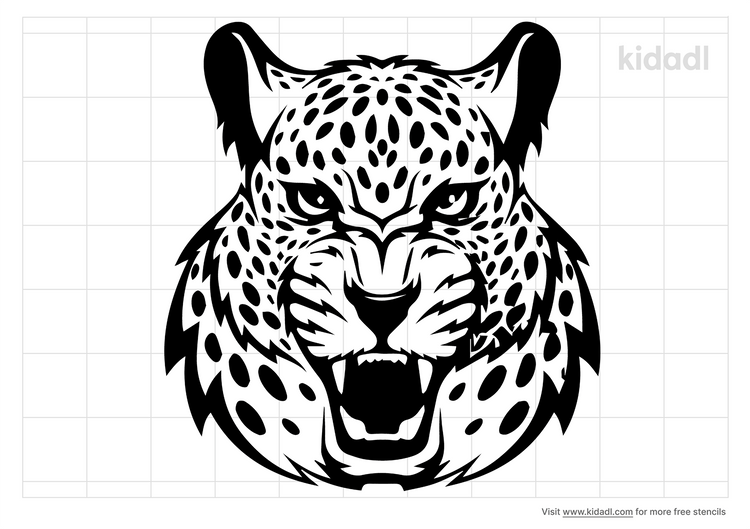 snow-leopard-stencil