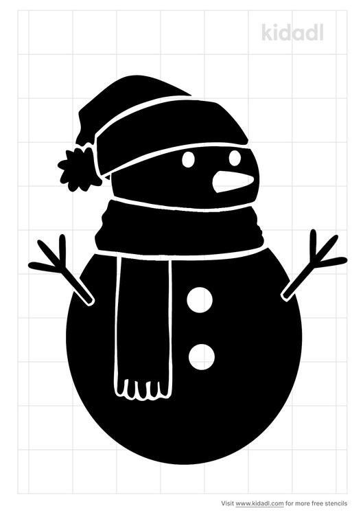 snow-man-stencil