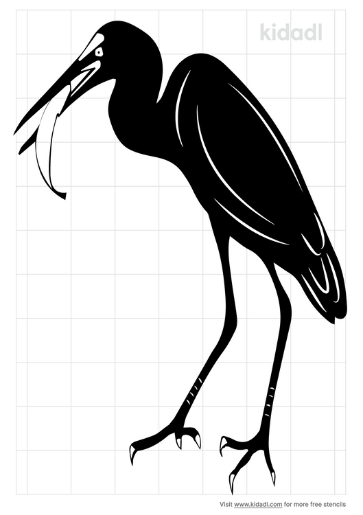 snowy-egret-stencil