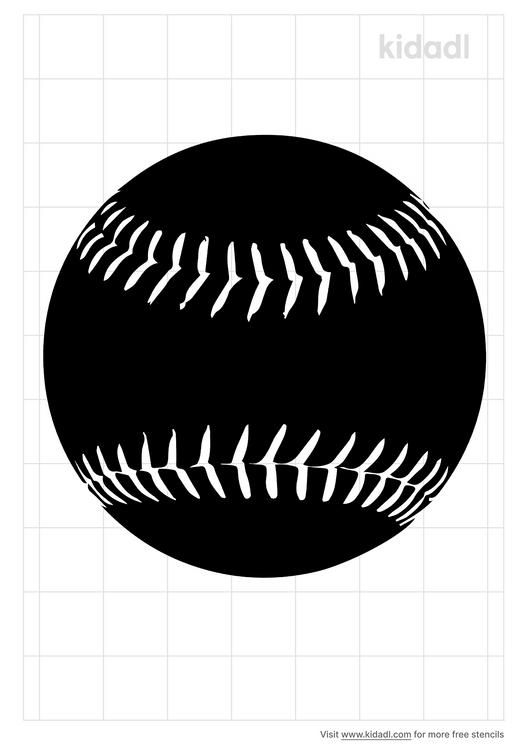 softball-ball-stencil