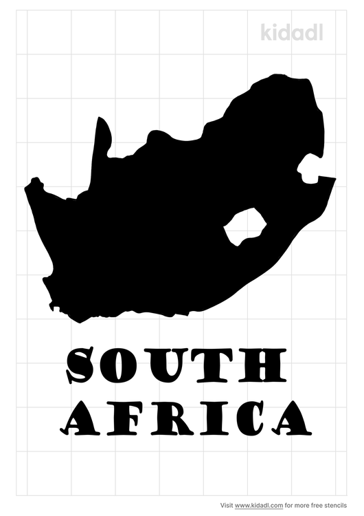 south-africa-stencil