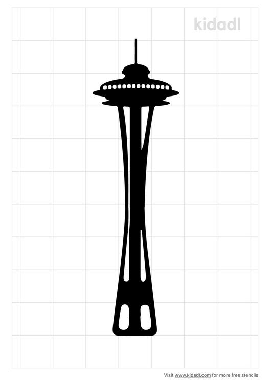 space-needle-stencil