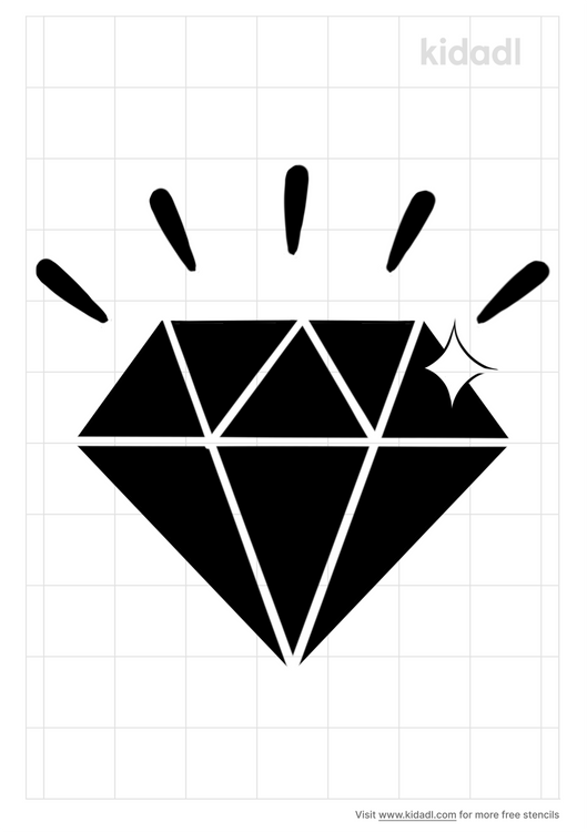 sparkling-diamond-stencil