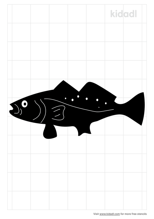 speckled-trout-stencil