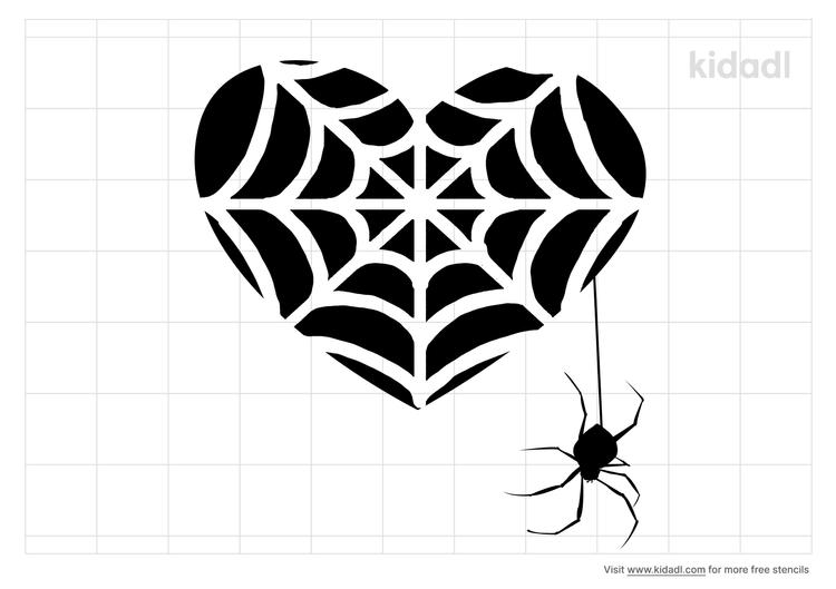 spider-heart-stencil