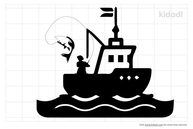 sport-fishing-boat-stencils