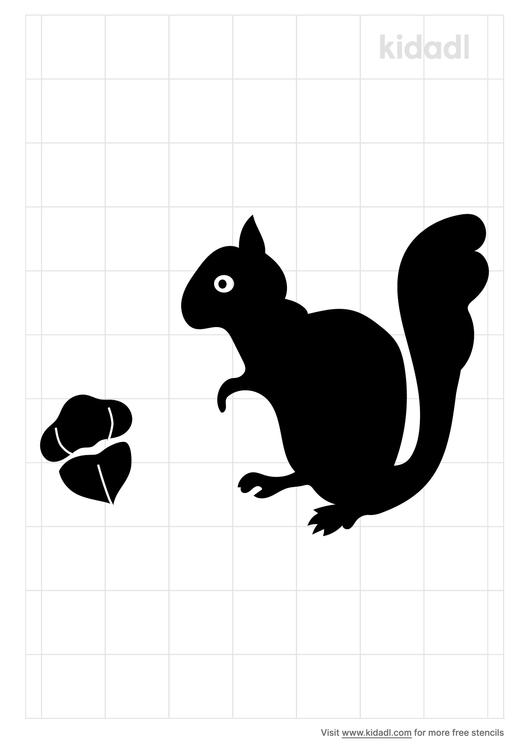 squirrel-nut-stencil