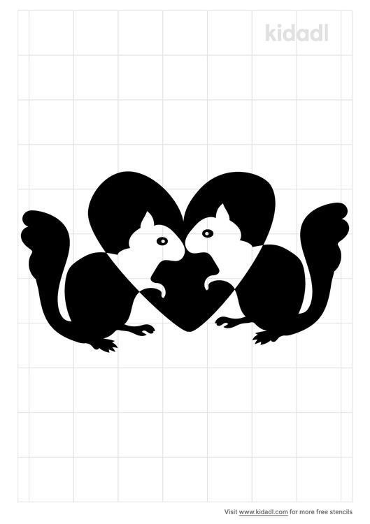 squirrels-in-love-stencil