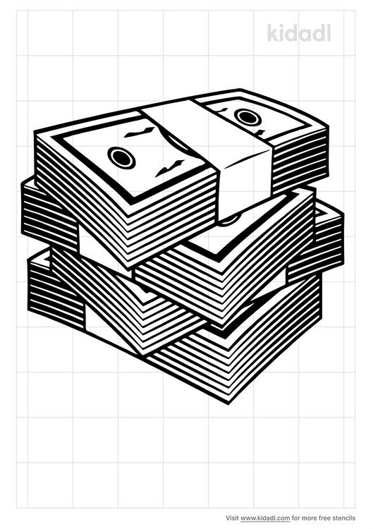 stack-of-money-stencil
