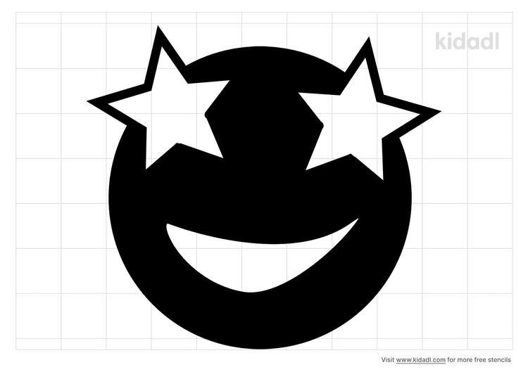 star-eye-emoji-stencil