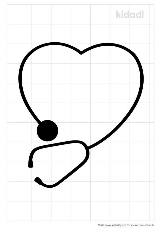 stethoscope-heart-stencil