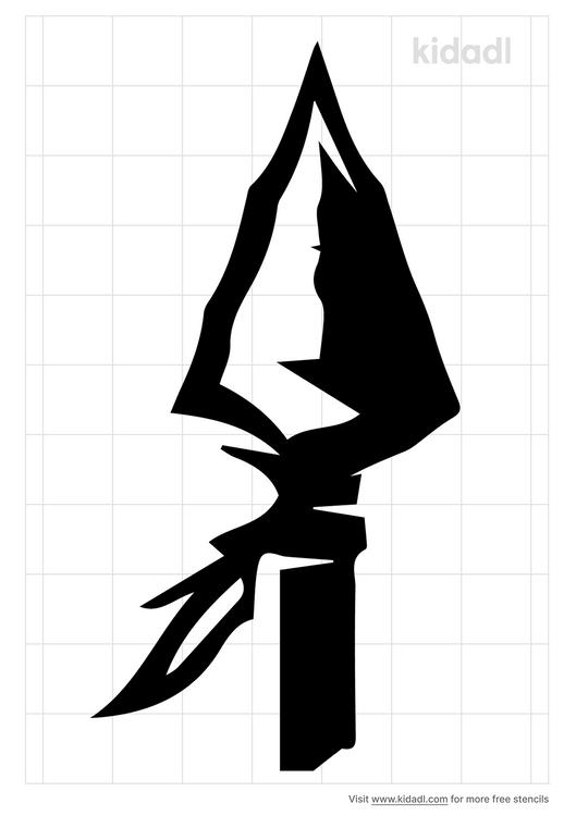 stone-arrowhead-stencil