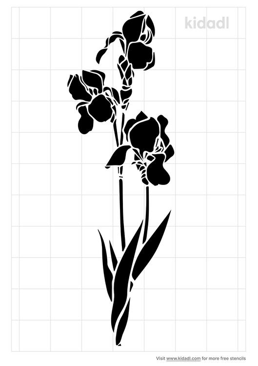 stunning-iris-stencil