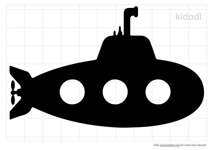 submarine-stencil