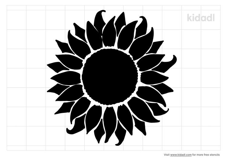 sunflower-stencil