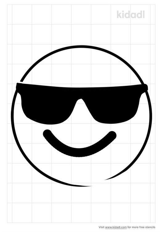 sunglass-emoji-stencil