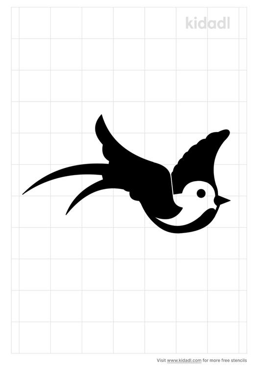 swallow-stencil