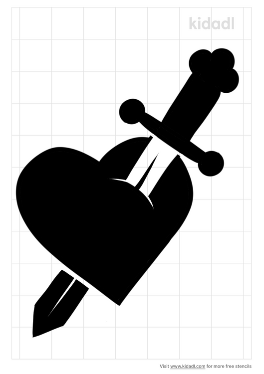 sword-heart-stencil