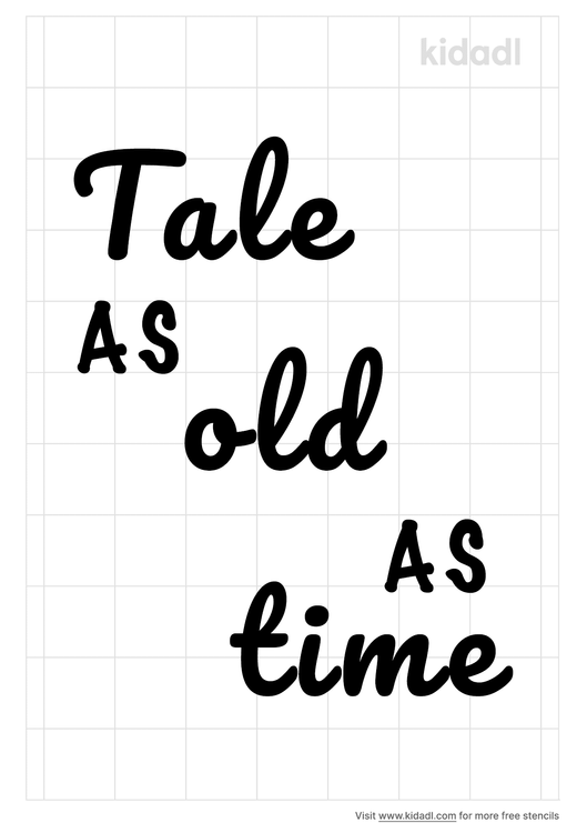 tale-as-old-as-time-stencil