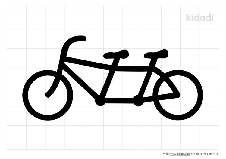 tandem-bicycle-stencil