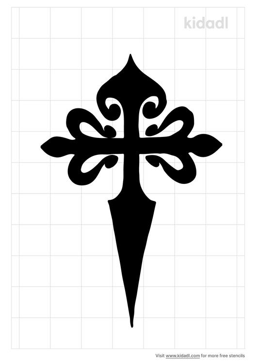 tarta-de-santiago-stencil