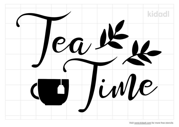 tea-time-stencil