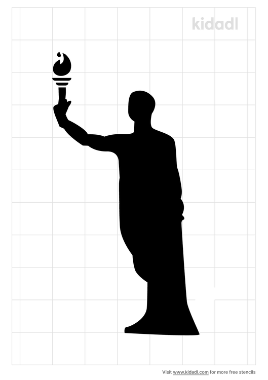 tennessee-torch-bearer-stencil