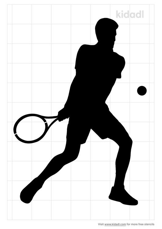 tennis-player-stencil