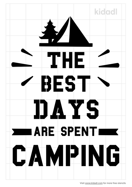 the-best-days-are-spent-camping-stencil