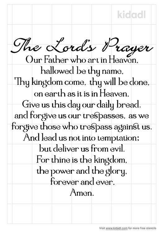 the-lord-s-prayer-stencil