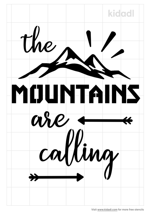 the-mountains-are-calling-stencil