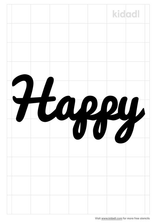 the-word-happy-stencil