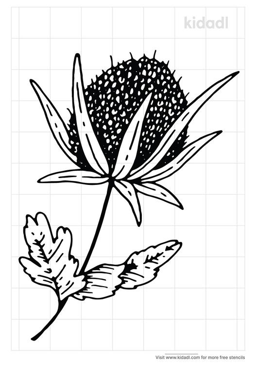 thistle-stencil