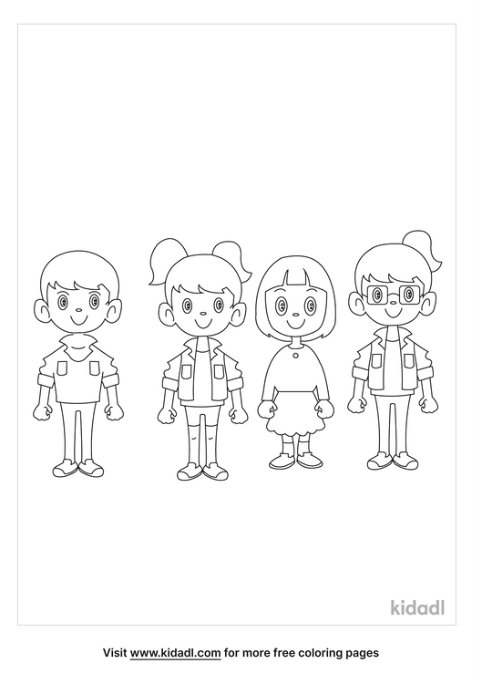 three-girls-and-a-boy-coloring-page.png