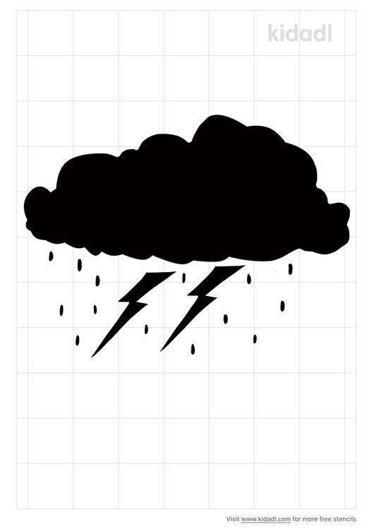 thunderstorm-stencil