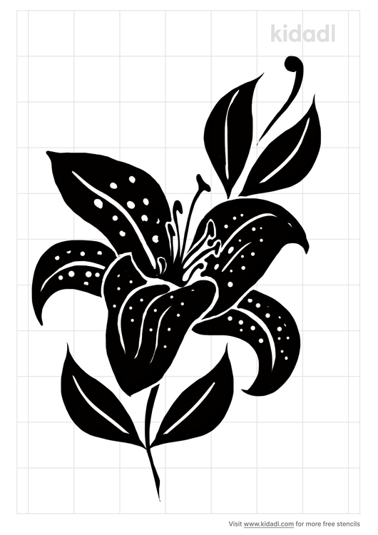 tiger-lily-stencil