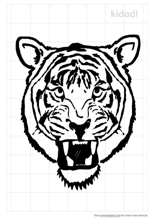 tiger-roar-stencil