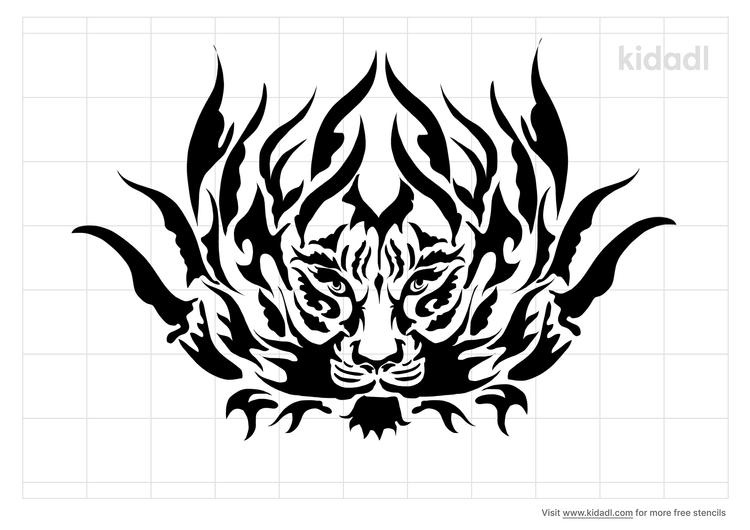 tiger-tribal-stencil