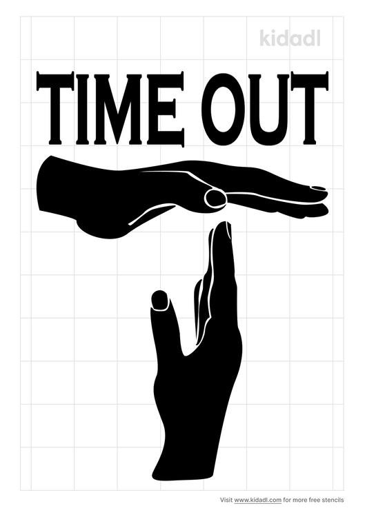time-out-stencil