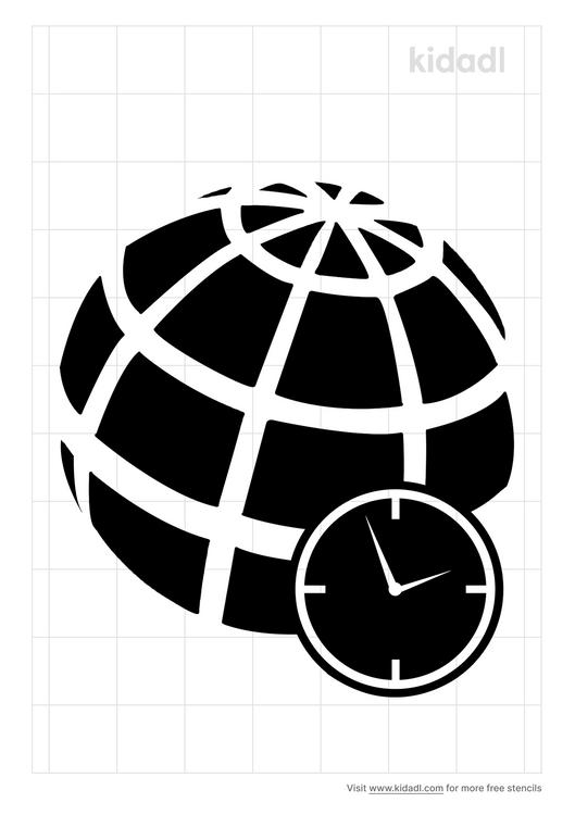 time-zone-stencil