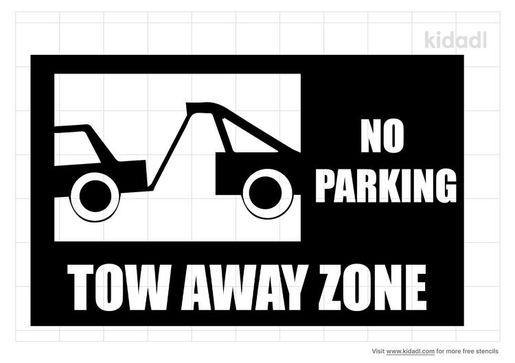 tow-away-zone-stencil