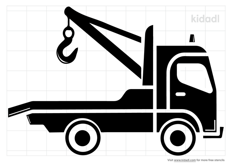 tow-truck-stencil