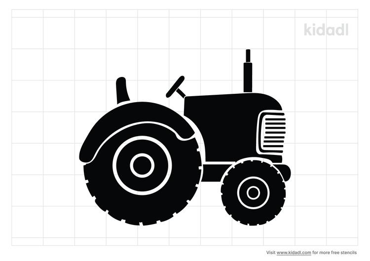 tractor-stencil