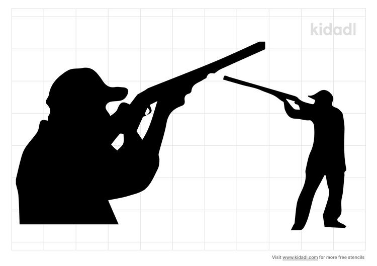 trap-shooting-stencil
